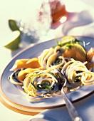 Spaghetti al salmone (Nudeln mit Lachs-Zitronen-Sauce)