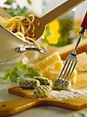 Making Spinach Gnocchi