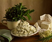 Fresh Ricotta Mixed With Herbs