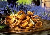 Deep fried calamary rings