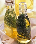 Two bottles of herb oil