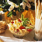 Pasta Salad and Grissini for a Buffet
