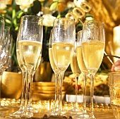 Glasses of Champagne for New Year's Eve Party