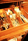 Drawer Full of Assorted Silverware