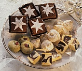 Christmas biscuits and pastries on a plate