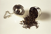 Black tea falling out of tea ball