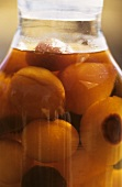 Preserving Jar with Fresh Apricots