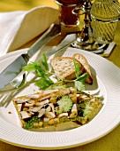 Gelatina di funghi e verdure (vegetable terrine with mushrooms)