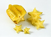 Half a carambola (starfruit) and slices