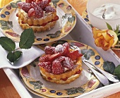 Strawberry tartlet with mascarpone cream
