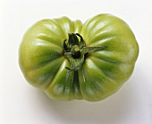 Ribbed green beefsteak tomato