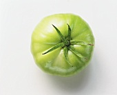 Green beefsteak tomato (from above)