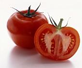 Tomato and tomato halves
