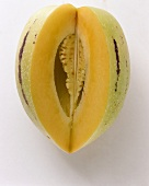 A Pepino with Slice Removed