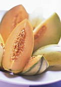 Several Sliced Melons