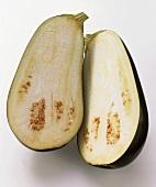 An Eggplant; Cut in Half