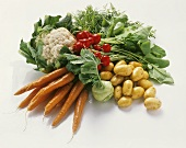 Various spring vegetables in a heap