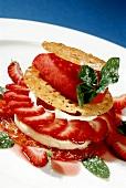Strawberry gourmandise with burnt cream