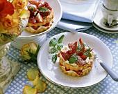 Strawberry tartlet with mascarpone cream