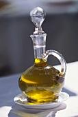 Elegant carafe of olive oil