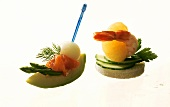 Two delicate canapes