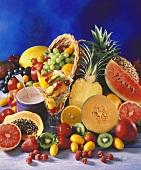 Still Life with Fresh Fruit, Berries and Yogurt