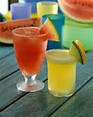 Watermelon and honeydew melon juice