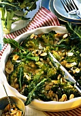 Broccoli pie in dish