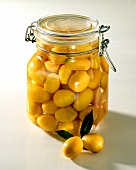Bottled kumquats in jar (for sweets or to eat with meat)
