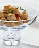 Cheese Rolls in a Glass Bowl