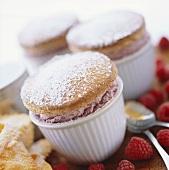 Individual Raspberry Souffle