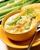 American corn and potato soup