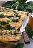 Pizza verde (spinach pizza), Latium, Italy