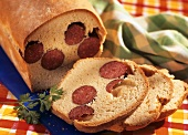 Surprise bread with cabanossi sausage
