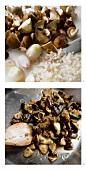 Preparing mushroom stir-fry