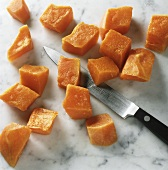 Dicing pumpkin
