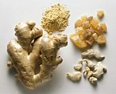 Ginger: fresh, dried, crystallised & as powder
