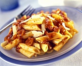 Penne all'arrabbiata (pasta with spicy tomato sauce)