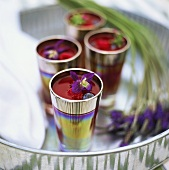 Berry jelly in sundae glasses