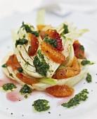 Fennel and orange salad with rocket dressing