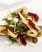 Radicchio and pear salad with pecorino and walnuts