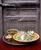Kräuter-Couscous mit Fischfilets (Tunesien)