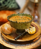Chorba frik (Algerian crushed wheat soup with lamb)