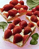 Strawberry coconut slices