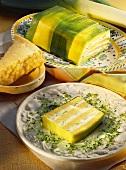 Leek and cheese bake