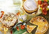 Kefir cheesecake, quark souffle cake & ricotta cherry cake