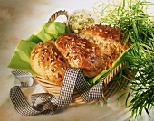 Easter bread with lime butter