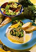 Viktoriabarschfilet mit Brokkoli & Zitronen-Wein-Sauce