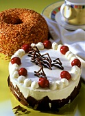 Black Forest cherry gateau and Frankfurt Crown cake