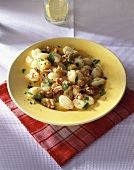 Gnocchi with walnut and garlic butter